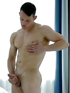 Muscle boy jack off with handsome & fit Sasha