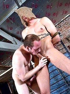 Sweet twink Billy has his throat slammed hard...