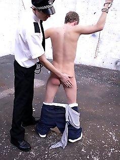 Two gay cops fuck their suspect rather than...