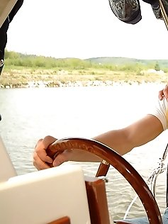 Sailors Adam and Johan fucking on a boat.